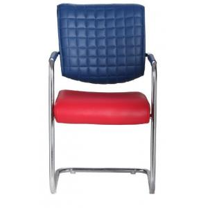 VJ Aleman Metal Chair, Colour: Red U0026 Blue